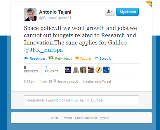Tweet Antonio Tajani