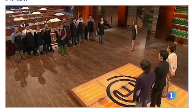 Momento del concurso MasterChef, de TVE