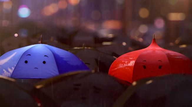 Fotograma de El Paraguas Azul (Pixar)