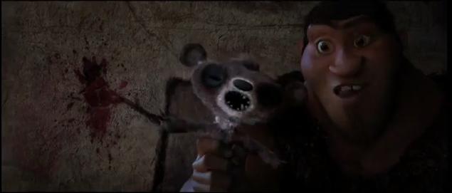 Fotograma de la película Los Croods, de DreamWorks