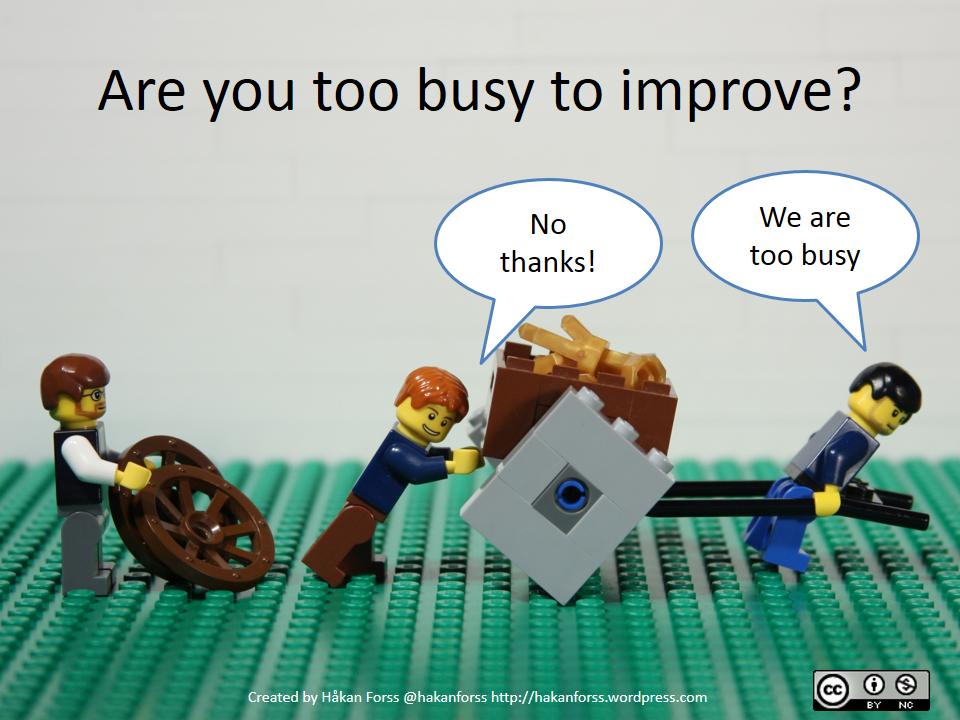 Demasiado ocupado para mejorar