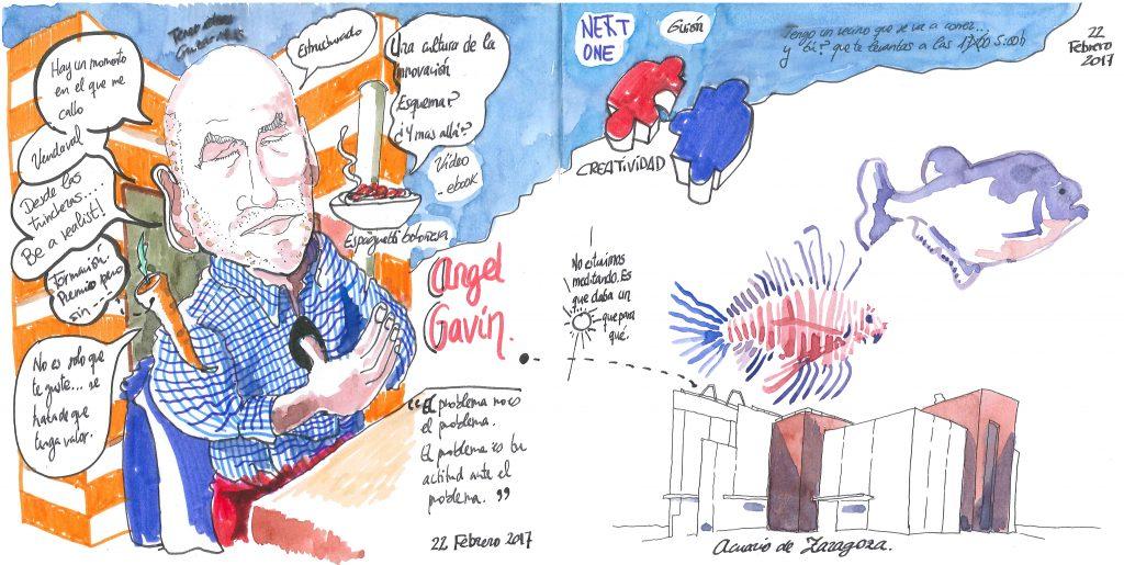 Mi reunión dibujada con Fernando Abadía